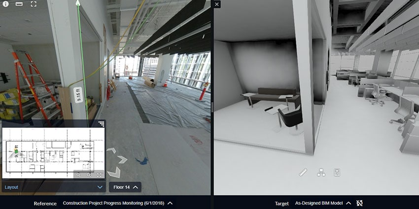BIM 360 mapping software for digital twins