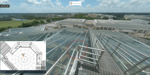 Hotel 360 photo digital twin of rooftop assets