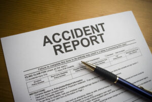 Accident report on a desk