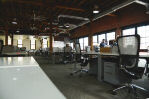 Office space of large facility