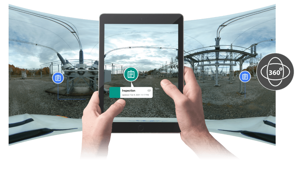 360 photo and annotation documentation for substation